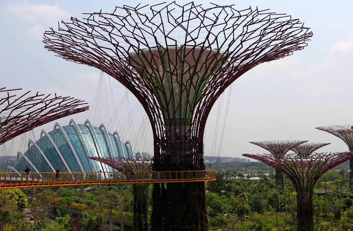 Supertrees und Cloud Forest, Gardens by the Bay – Singapur