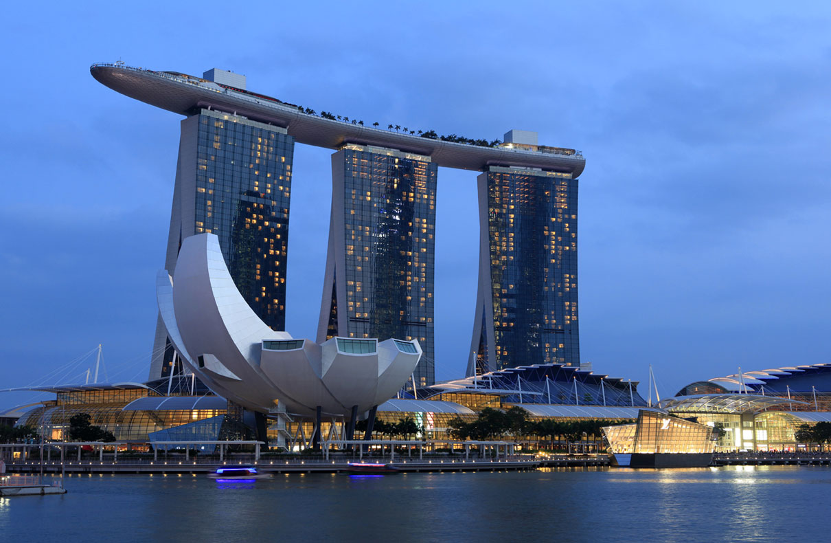 Art Science Museum und Marina Bay Sands Hotel – Singapur