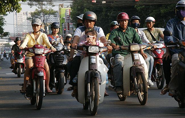 Straßenverkehr in Ho-Chi-Minh-Stadt