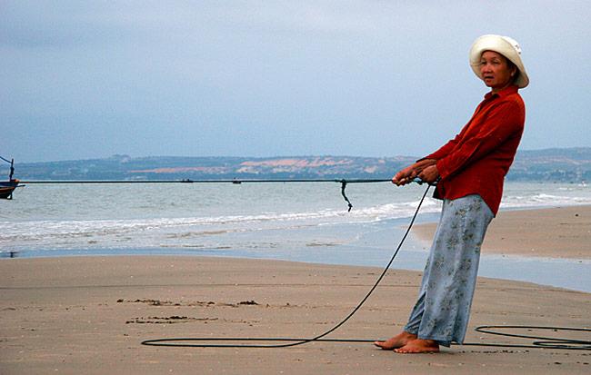 Fischerinnen am Strand